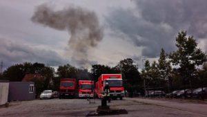 Feuerwehr Essen – Fettbrand simulation am Tag der offenen Tür